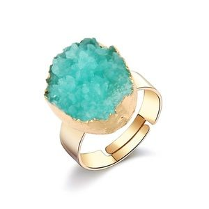 Anthropologie Beautiful & vibrant Adjustable Ring